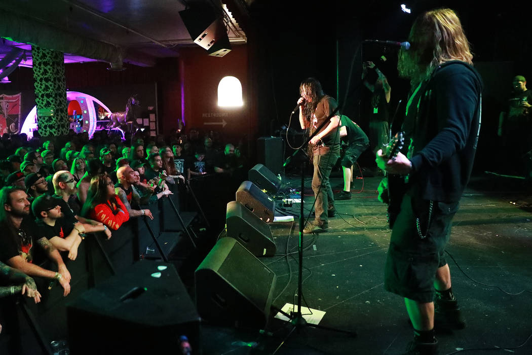 Devourment performs during the Las Vegas Death Fest at Fremont Country Club in Las Vegas on Saturday, May 12, 2018. The death metal festival featured 48 acts over three days. Andrea Cornejo Las Ve ...