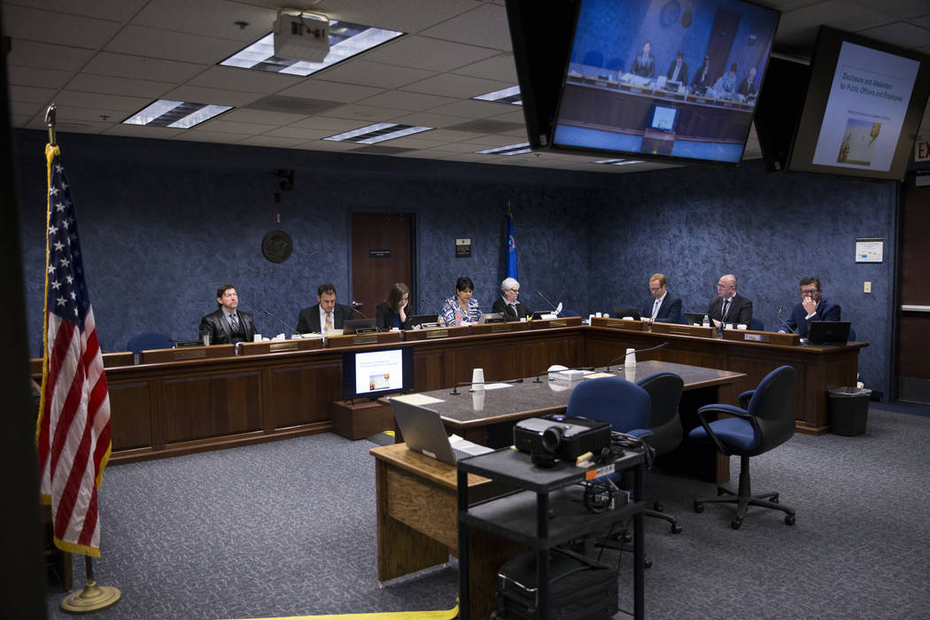 A Nevada State Public Charter School Authority board meeting at the Grant Sawyer State Office Building in Las Vegas, Friday, Jan. 26, 2018. Erik Verduzco Las Vegas Review-Journal @Erik_Verduzco