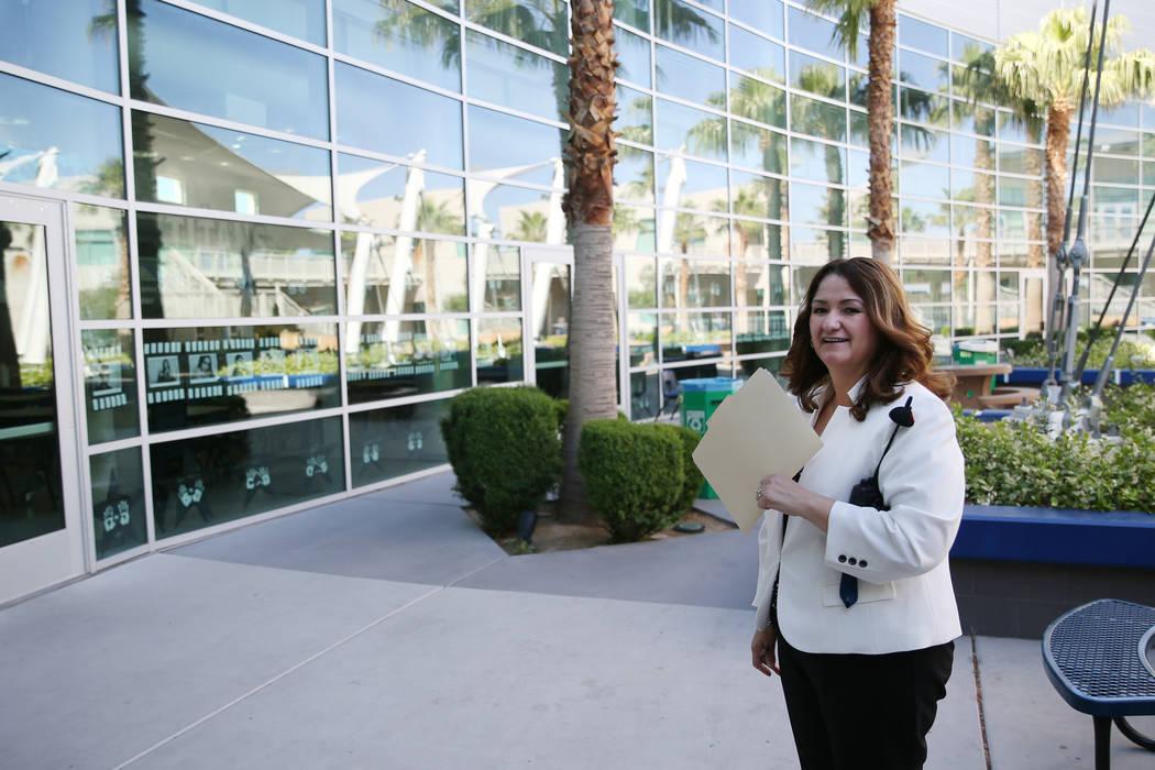 East Career and Technical Academy principal Darlin Delgado during a tour of the school in Las Vegas, Friday, May 4, 2018. Erik Verduzco Las Vegas Review-Journal @Erik_Verduzco