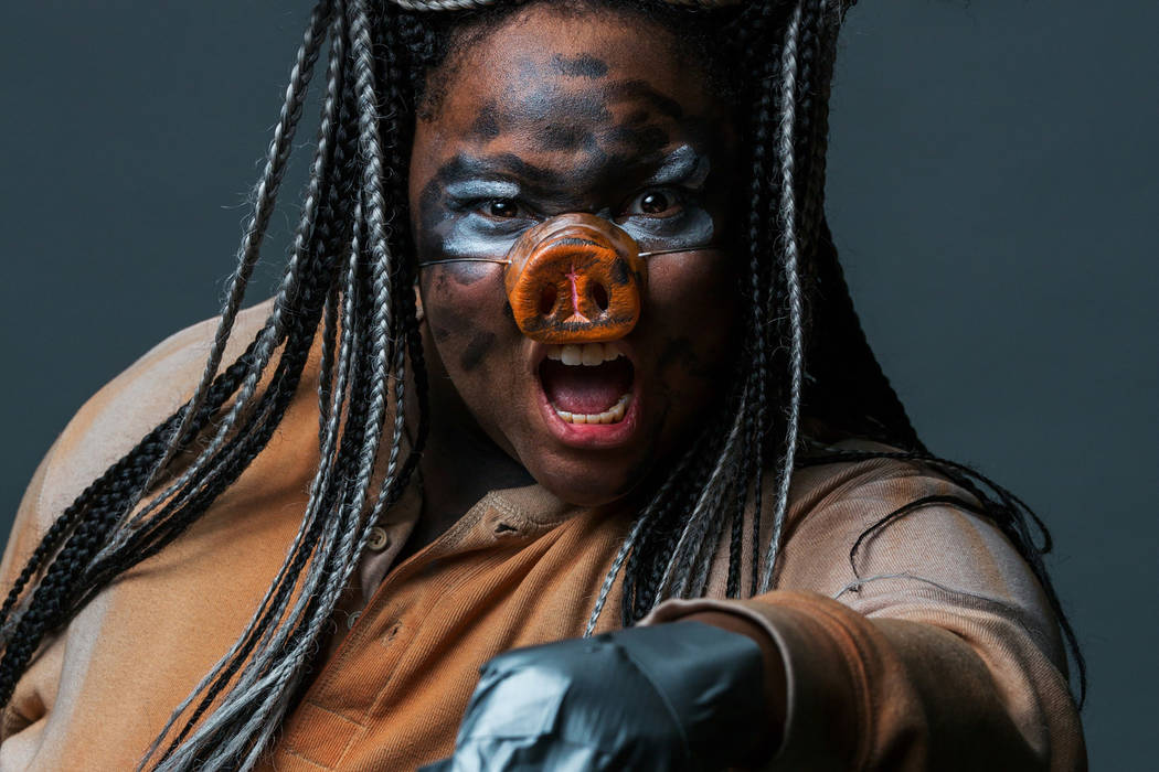 "Whitley Wilburn in Majestic Repertory Theatre's ""Animal Farm,"" opening May 18. (Majestic Repertory Theatre)"