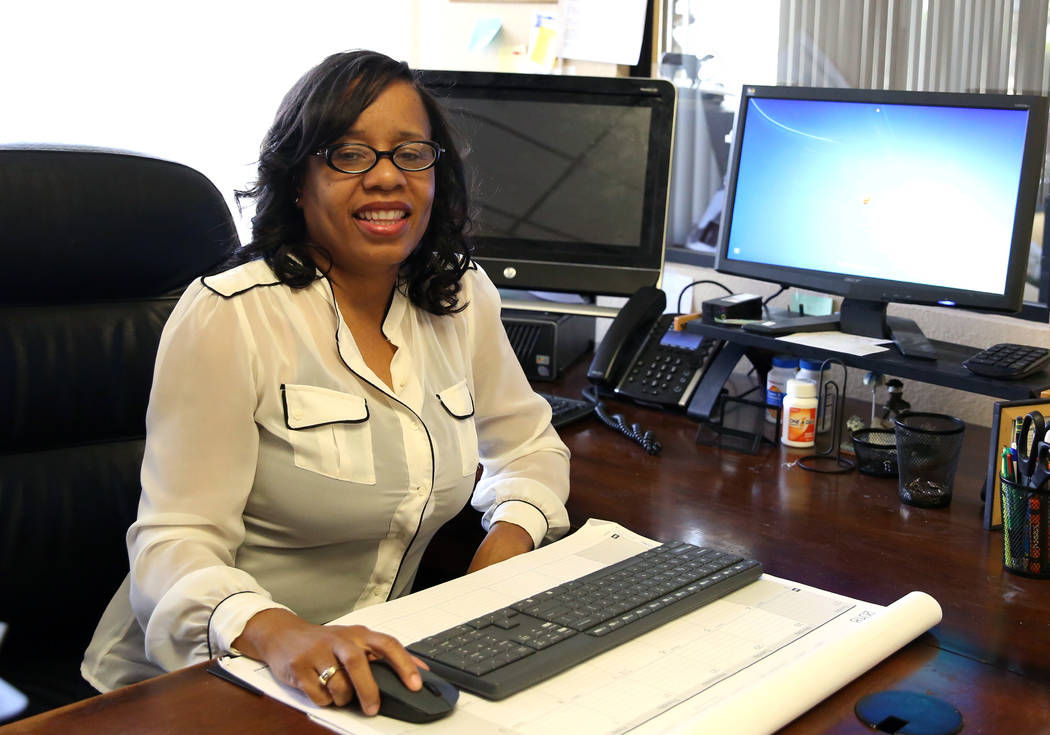 Lydia High, owner of Las Vegas-based accounting firm Precise Business Management, poses for photo at her Las Vegas office on Monday, April 23, 2018. Bizuayehu Tesfaye/Las Vegas Review-Journal @biz ...