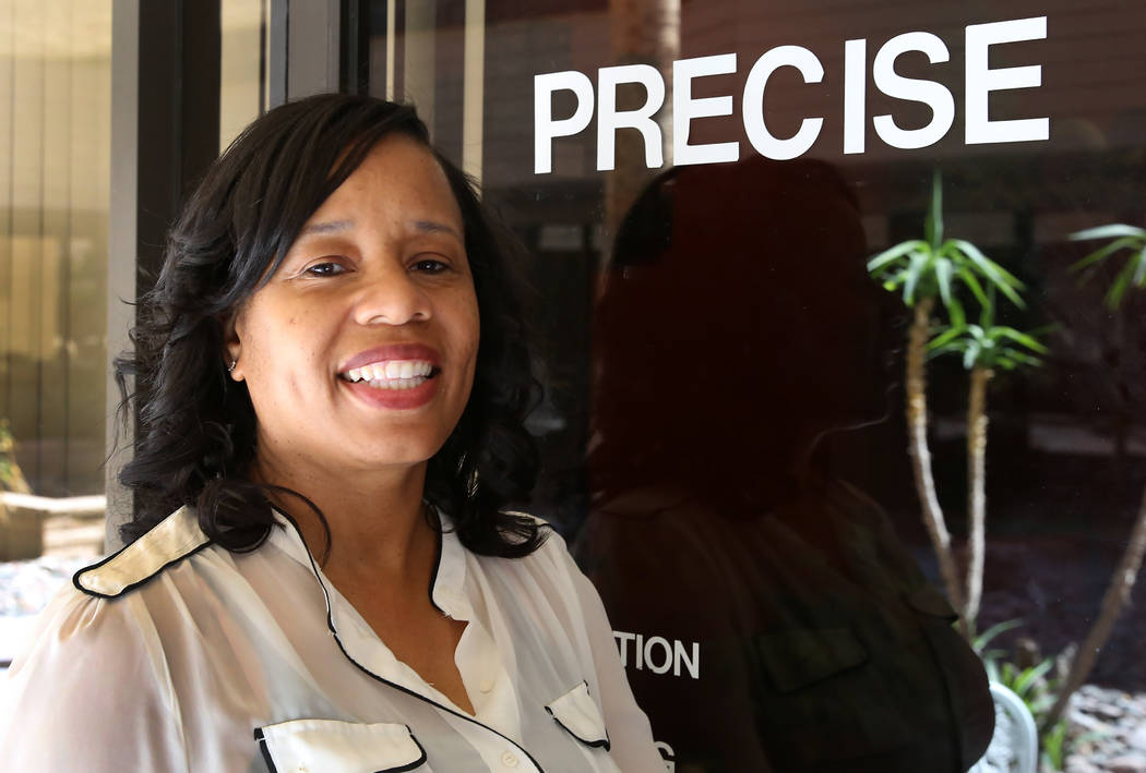 Lydia High, owner of Las Vegas-based accounting firm Precise Business  Management, poses