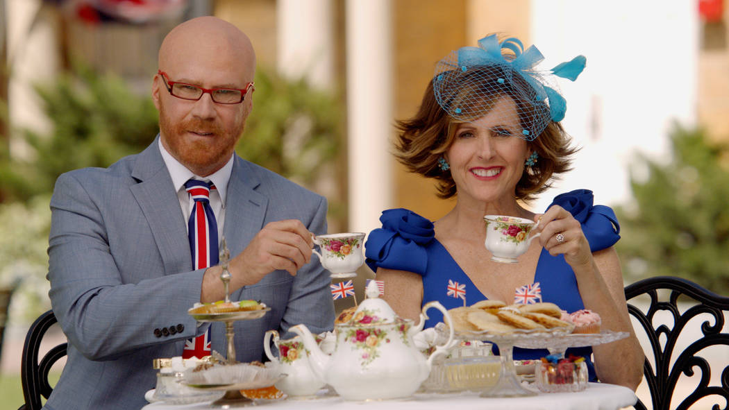 """Cord Hosenbeck (Will Ferrell) and Tish Cattigan (Molly Shannon) will broadcast live from the royal wedding as part of HBO's """"The Royal Wedding Live with Cord and Tish!"""" photo: HBO"""