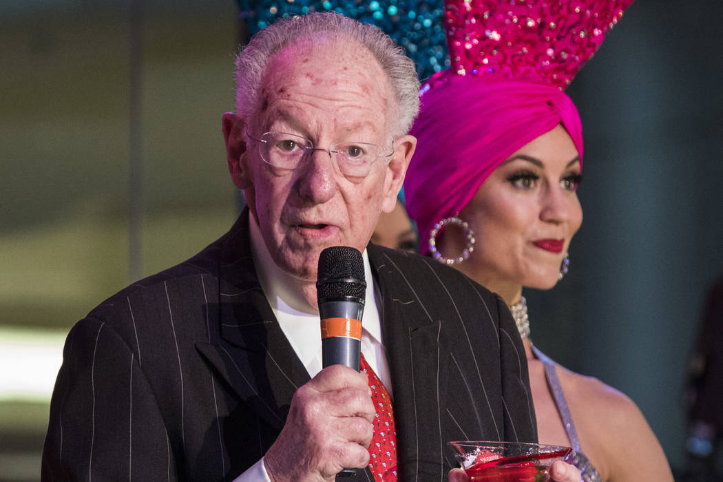 Former Las Vegas Mayor Oscar Goodman during a celebration of tourism hosted by the Las Vegas Convention and Visitors Authority at the Fashion Show mall in Las Vegas on Tuesday, May 9, 2017. Mirand ...