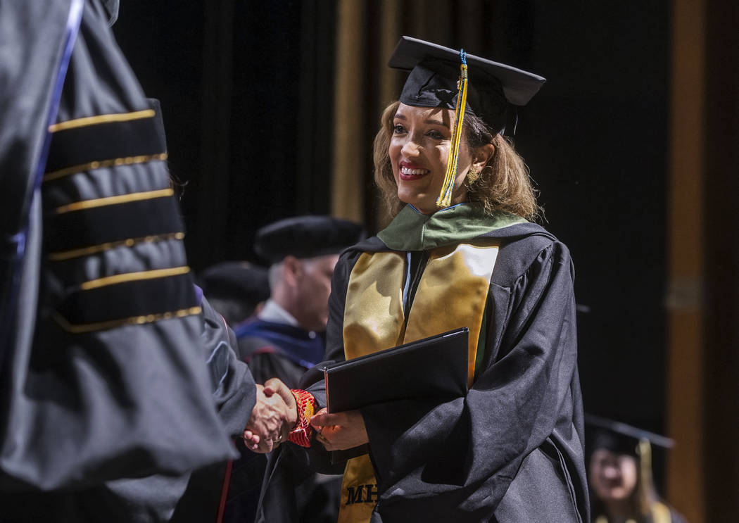 Niyat Teweldebrhan, a 28-year-old Eritrean refugee who survived war in her home country, receives her Masters of Science in medical health sciences from the College of Osteopathic Medicine at ...