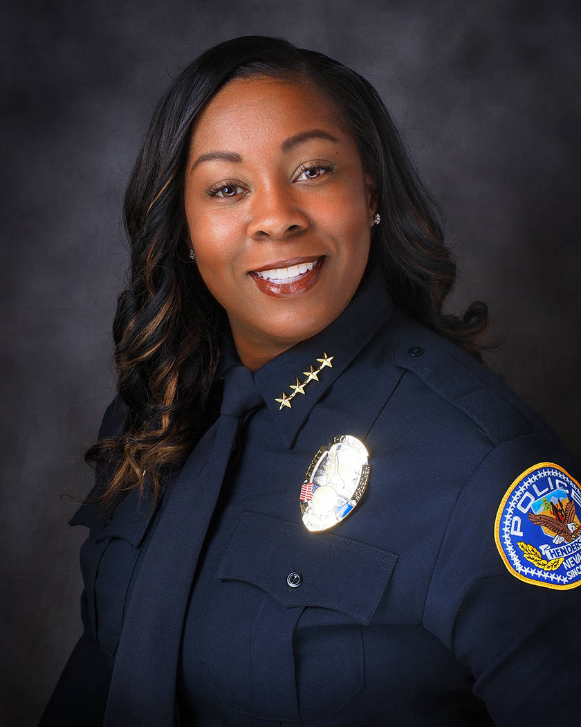 LaTesha Watson was sworn in as police chief last fall. City of Henderson