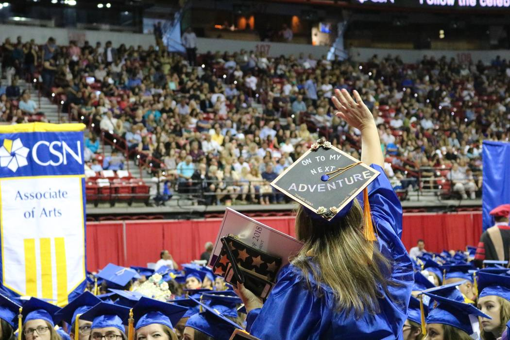 The College of Southern Nevada held its 46th commencement ceremony at Thomas & Mack Center in Las Vegas, Monday, May 14, 2018. The Class of 2018 was the school's largest graduating class in th ...