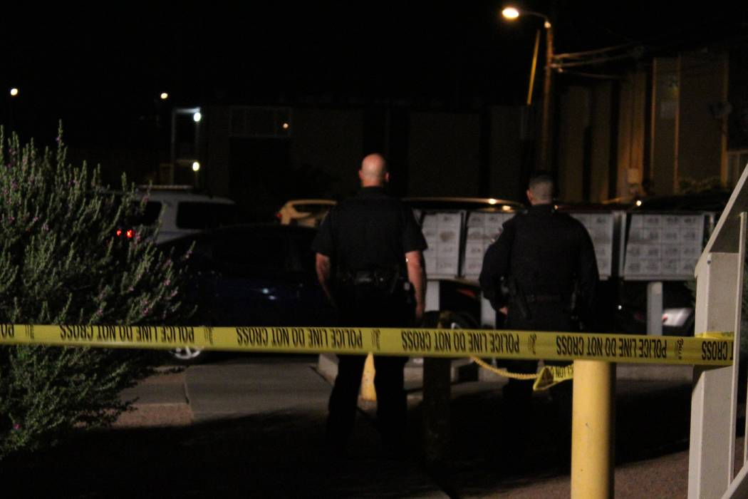 North Las Vegas police are investigating the deadly shooting of a 24-year-old man on Monday night. (Max Michor/Las Vegas Review-Journal)