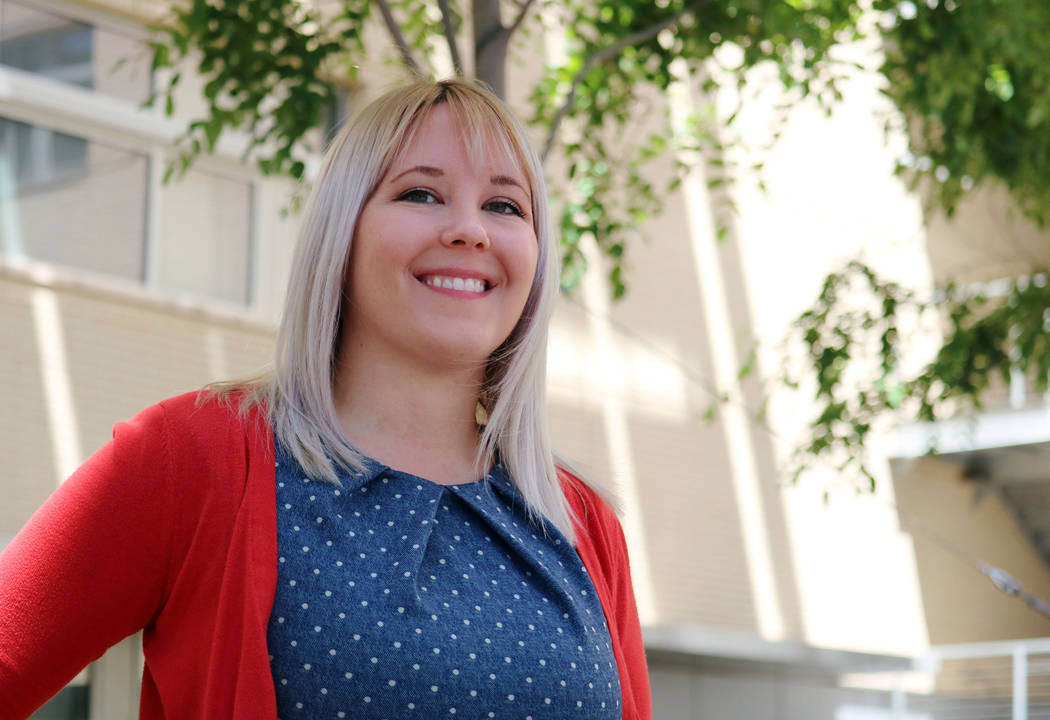 Breanna Boppre at the Greenspun College of Urban Affairs at UNLV in Las Vegas, Monday, May 7, 2018. Boppre is the first doctoral student to graduate in criminal justice from UNLV. Madelyn Reese/La ...