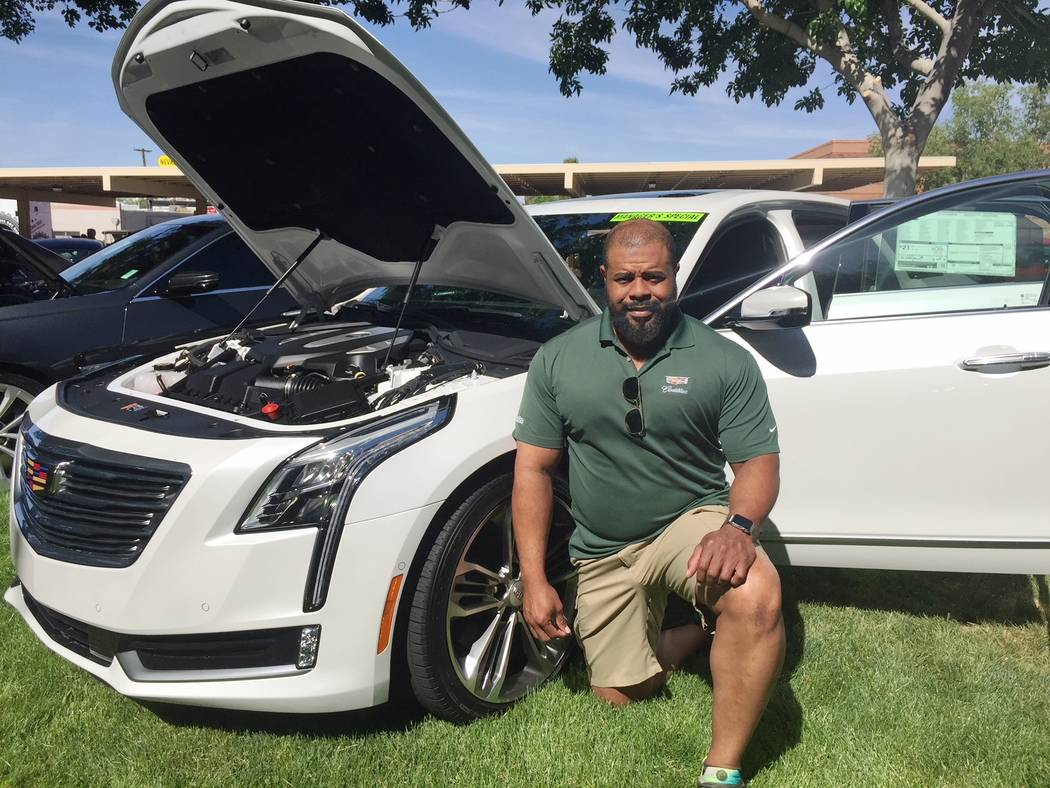 Findlay Findlay Cadillac internet manager Sergio Brooks is seen with a 2018 Cadillac CT6 Platinum at the annual Spring Jamboree in Boulder City.