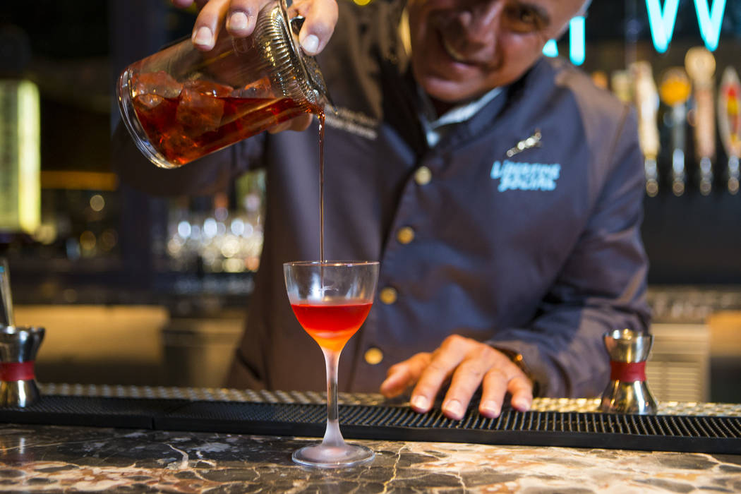 Mixologist Tony Abou-Ganim poses for a photo at Libertine Social in the Mandalay Bay hotel-casino in Las Vegas on Thursday, Aug. 18, 2016. Chase Stevens/Las Vegas Review-Journal Follow @csstevensphoto
