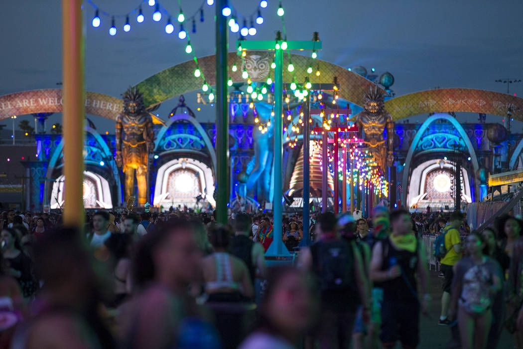 Day one of the Electric Daisy Carnival at the Las Vegas Motor Speedway on Friday, May 18, 2018. Richard Brian Las Vegas Review-Journal @vegasphotograph