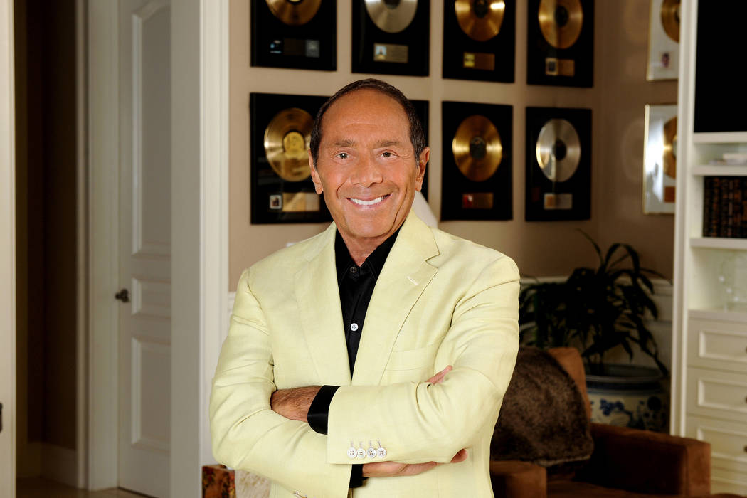 Paul Anka is celebrating 60 years in show business with five shows at Encore Theater at Wynn Las Vegas beginning Friday night. (Paul Anka Productions)