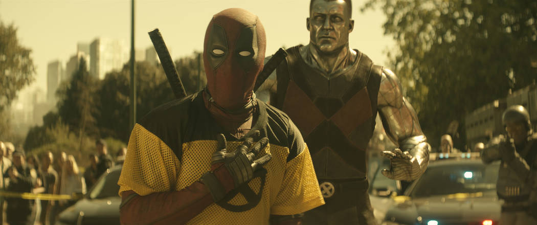 Deadpool (Ryan Reynolds) and Colossus in Twentieth Century Fox's DEADPOOL 2. Photo Credit: Courtesy Twentieth Century Fox.
