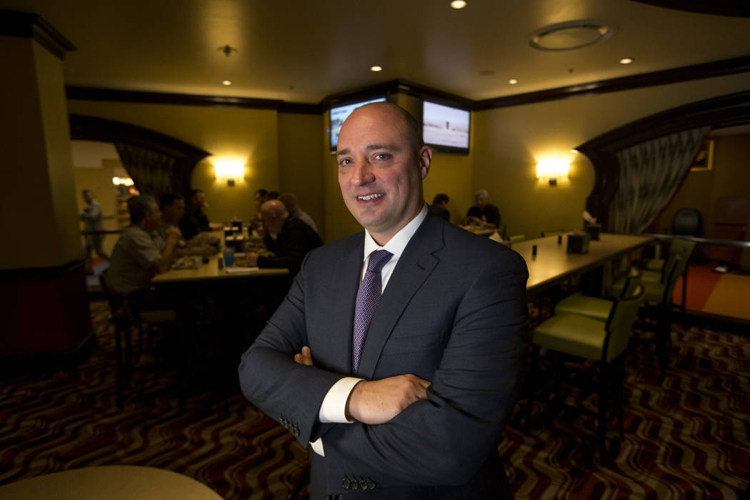 Matt Maddox, the newly appointed CEO of Wynn Resorts Ltd., on Monday, Feb. 19, 2018 in Las Vegas. Richard Brian Las Vegas Review-Journal @vegasphotograph