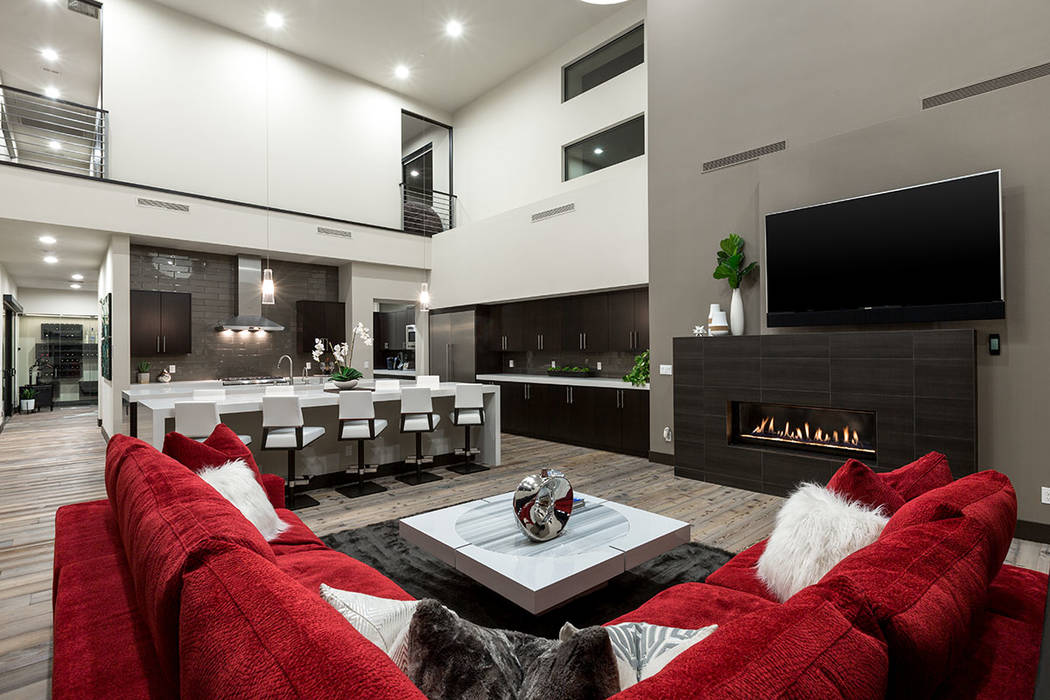 The living area connects with the kitchen. (The Red Luxury Real Estate)