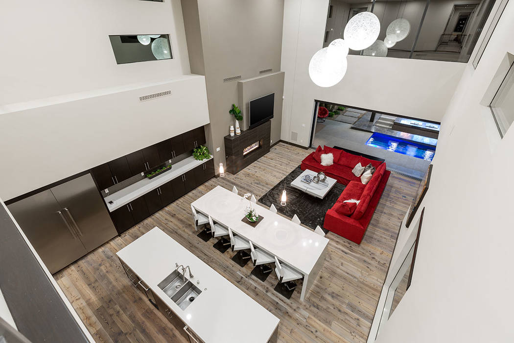 The kitchen and living room area. (The Red Luxury Real Estate)