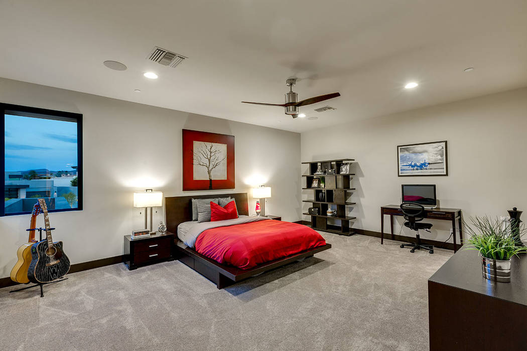 One of five bedrooms. (The Red Luxury Real Estate)