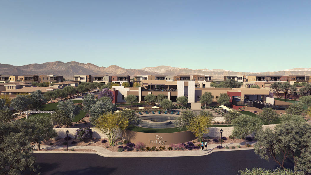 The Outlook Club in the age-qualified community of Shea Homes Trilogy in Summerlin is expected to be completed next year. (Shea Homes Trilogy)