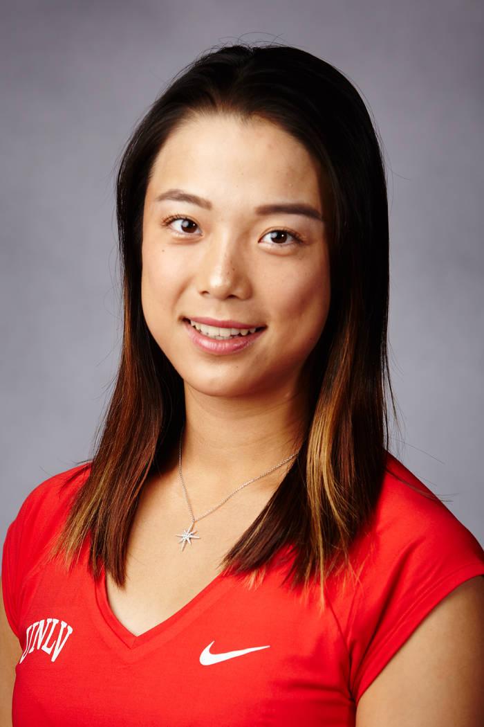 Aiwen Zhu Woman's Tennis Team Headshot November 16, 2017 (Amanda Keating/UNLV creative services)