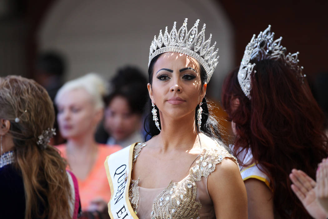 Andrea Yeisley, Queen Elite International 2018, during the Asian Culture Day Celebration at Fremont Street Experience in Las Vegas, Wednesday, May 16, 2018. Erik Verduzco Las Vegas Review-Journal ...