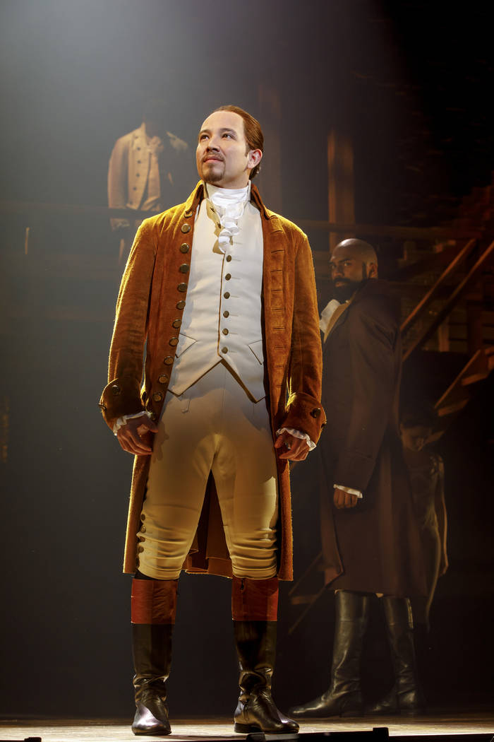 "Joseph Morales as Alexander Hamilton in ""Hamilton,"" which opens May 29 at The Smith Center."