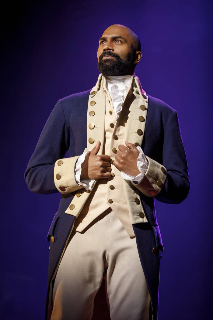 "Nik Walker as Aaron Burr in the national tour of ""Hamilton,"" opening May 29 at The Smith Center."