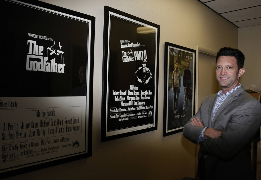 Eric Preiss, director of the Nevada Film Office, poses for photo at his Las Vegas office on Wednesday, May 16, 2018. Bizuayehu Tesfaye/Las Vegas Review-Journal @bizutesfaye