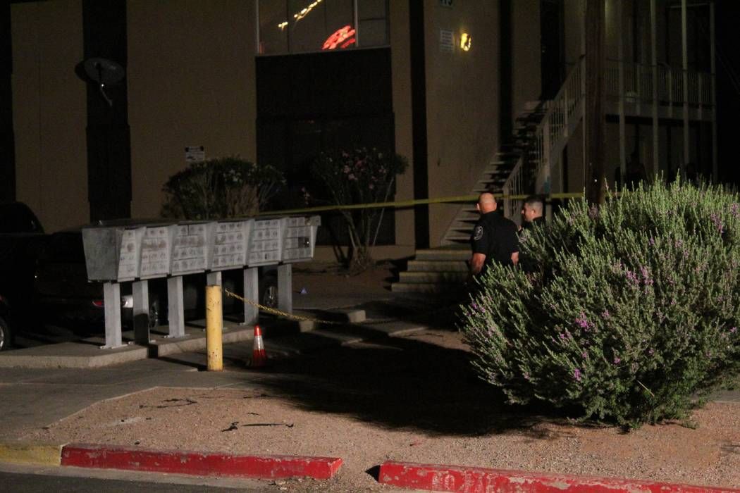 The Clark County coroner's office identified the 24-year-old man who died Monday night after he was shot at a North Las Vegas apartment complex. (Max Michor/Las Vegas Review-Journal)