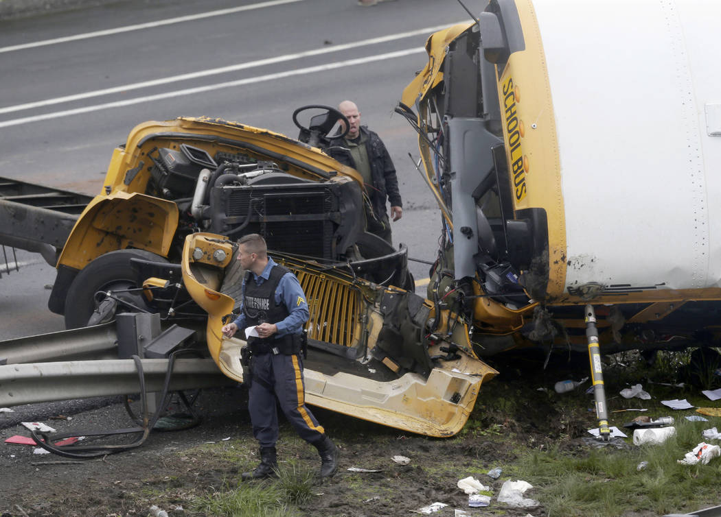 School bus and dump truck collide on I-80 in New Jersey