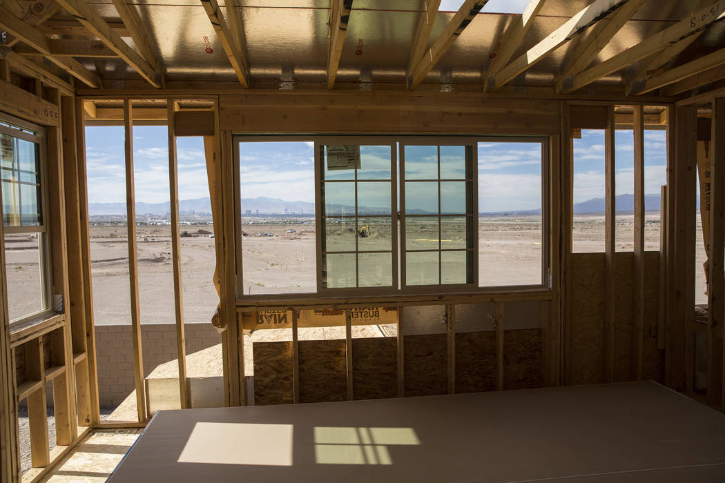 Las Vegas Review-Journal file photo Local homebuilders say rising costs in land and labor is pushing housing prices up.