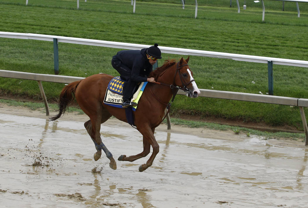 Justify sets off for Baltimore ahead of Preakness Stakes