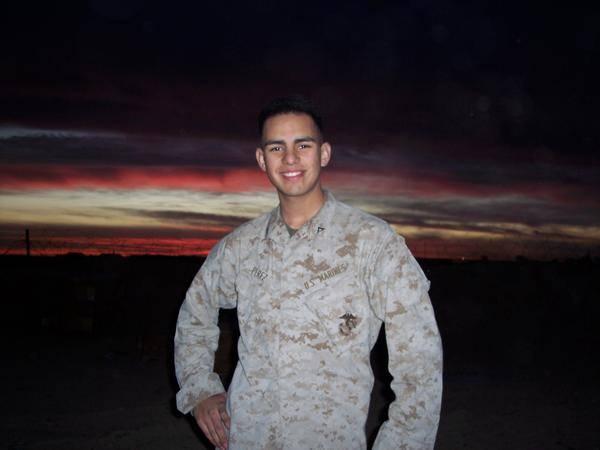 This 2004 photo shows Richard Perez Jr. in his military uniform. (Richard Perez Sr.)