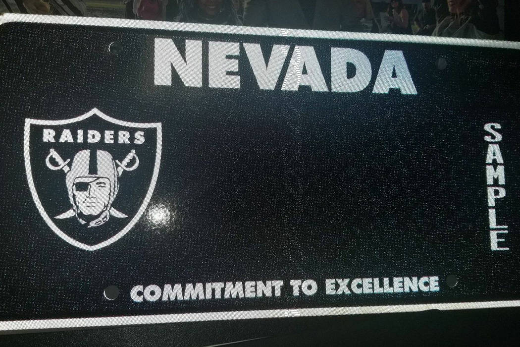 A sample Raiders license plate. Lauren Michelle Brooks via Facebook.
