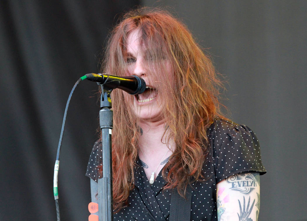 Laura Jane Grace with Against Me! performs during the 2016 Shaky Knees Festival at Centennial Olympic Park on Friday, May 13, 2016, in Atlanta. (Photo by Robb D. Cohen/Invision/AP)