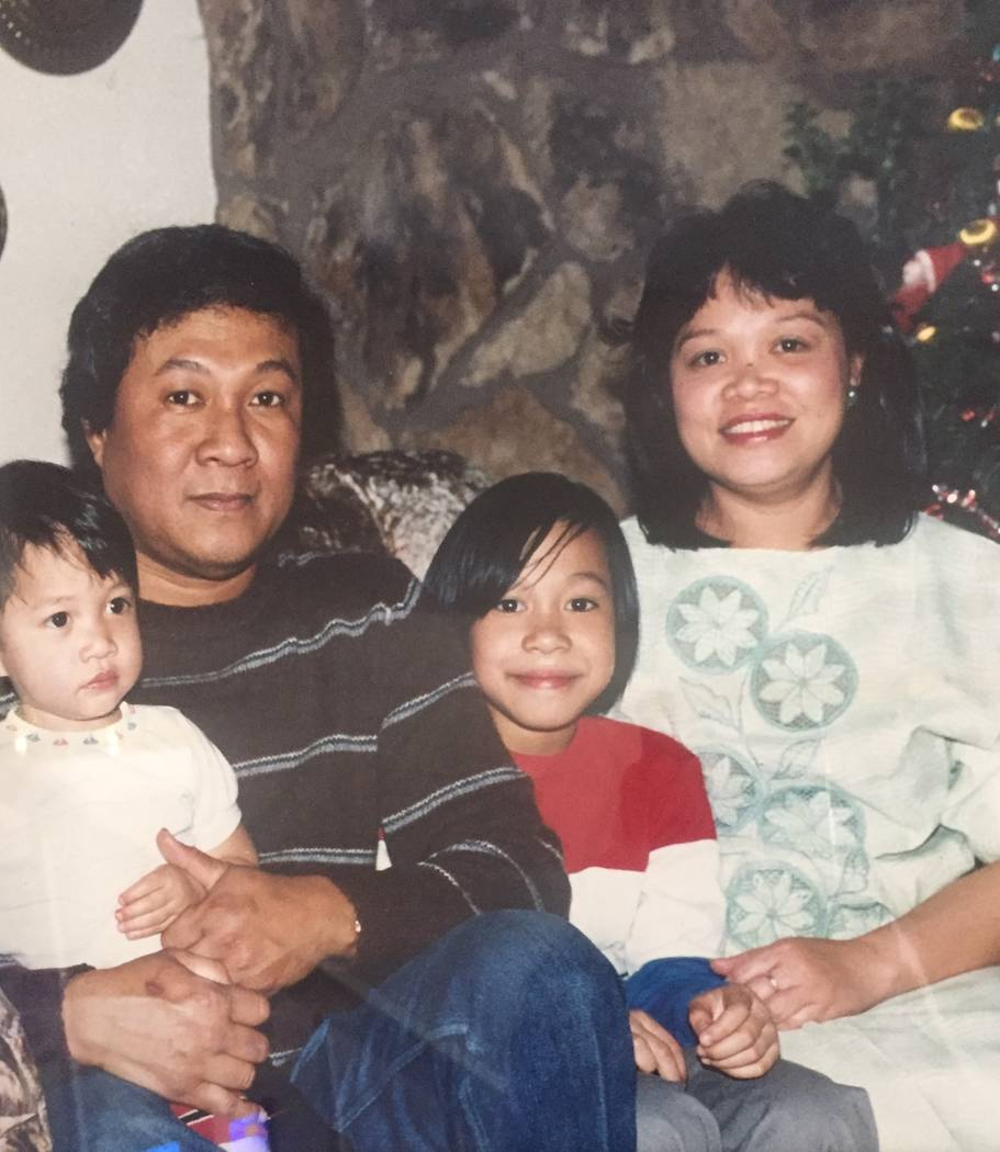 Left to right: Jerome Penaranda, his father, Roberto, sister, Jasmin Briggs, and mother, Vivian Penaranda in 1986 (Family photo courtesy of Jerome Penaranda).