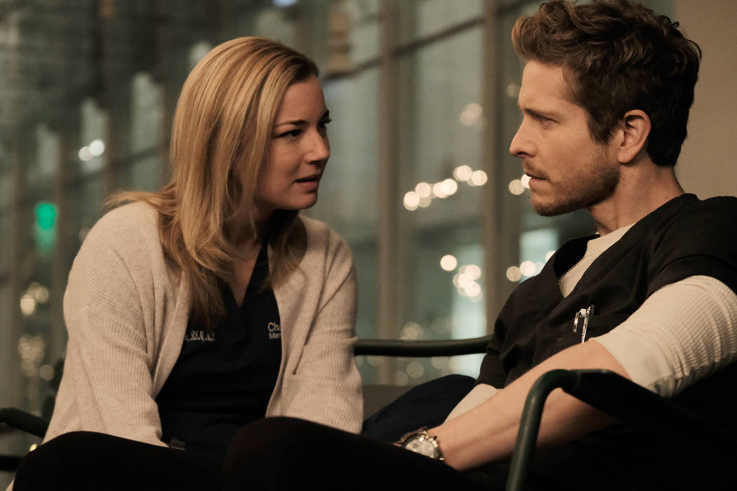 "Emily VanCamp and Matt Czuchry in ""The Resident"" airing Monday, April 23 (9:00-10:00 PM ET/PT) on FOX. 2018 Fox Broadcasting Co. Cr: Guy D'Alema/FOX"
