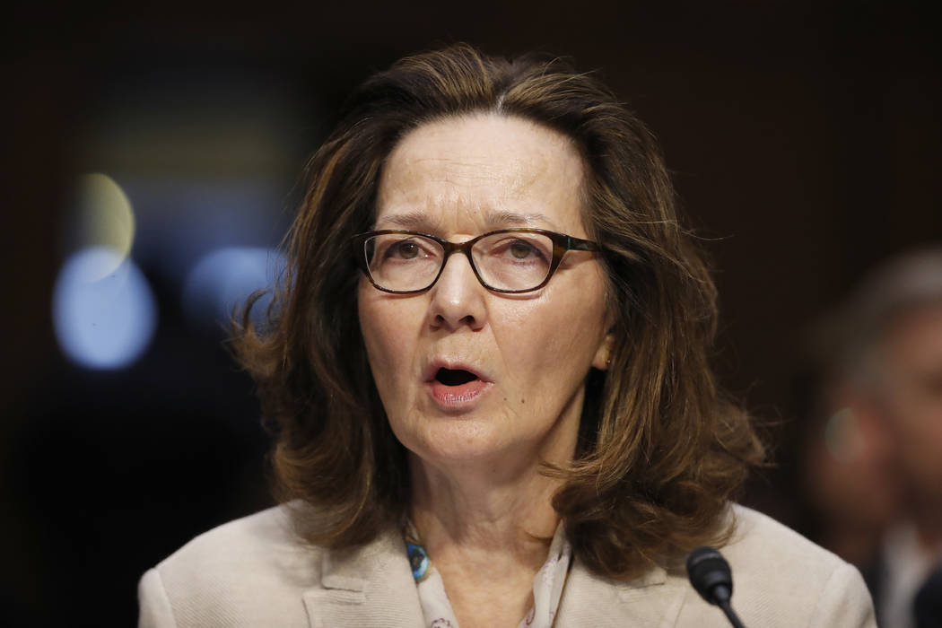 CIA nominee Gina Haspel testifies during a confirmation hearing of the Senate Intelligence Committee on Capitol Hill in Washington. (AP Photo/Alex Brandon, File)
