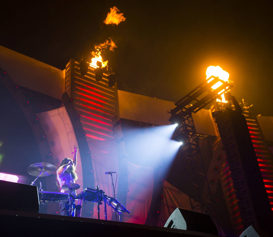 Big Wild performs at the Cosmic Meadow stage during the third day of the Electric Daisy Carnival at the Las Vegas Motor Speedway in Las Vegas on Sunday, May 20, 2018. Chase Stevens Las Vegas Revie ...