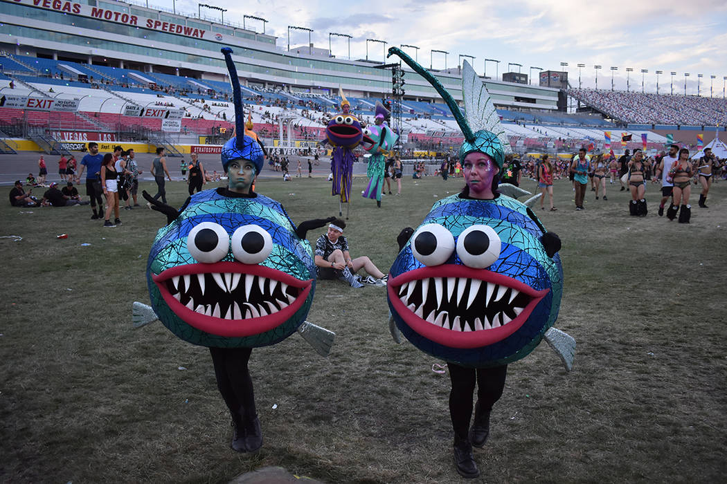 Guests and performers arrive at EDC on May 20, 2018. Foto Anthony Avellaneda / El Tiempo.