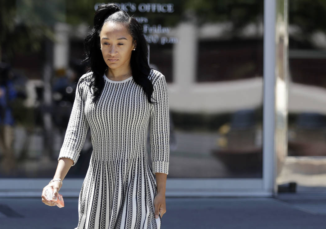 Elissa Ennis, former girlfriend of San Francisco 49ers linebacker Reuben Foster, walks out of Santa Clara County Superior Court after testifying in Foster's preliminary hearing, Thursday, May 17, ...