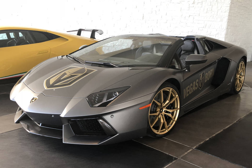 Knights Lamborghini Lends More Gold To Palms Overhaul Las Vegas Review Journal
