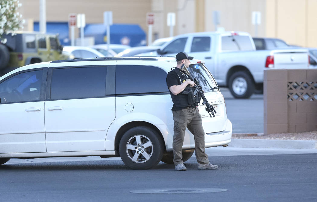 Police cordon off the outside Sears at the Boulevard Mall in Las Vegas on Thursday, May 17, 2018. Richard Brian Las Vegas Review-Journal @vegasphotograph