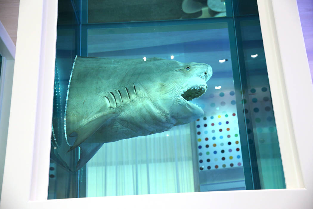 Damien Hirst's The Unknown, Explored, Explained, Exploded, shark art piece inside the renovated Palms hotel-casino in Las Vegas, Thursday, May 17, 2018. Erik Verduzco Las Vegas Review-Journal @Eri ...