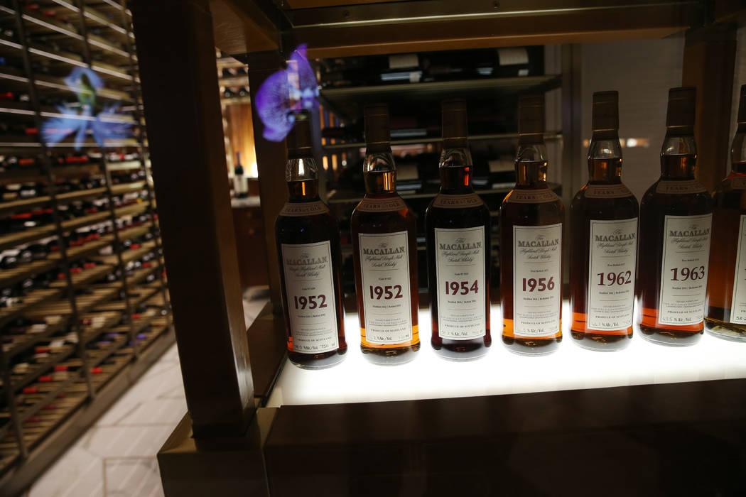 The Scotch 80 Prime steakhouse $3 million scotch collection inside the renovated Palms hotel-casino in Las Vegas, Thursday, May 17, 2018. Erik Verduzco Las Vegas Review-Journal @Erik_Verduzco