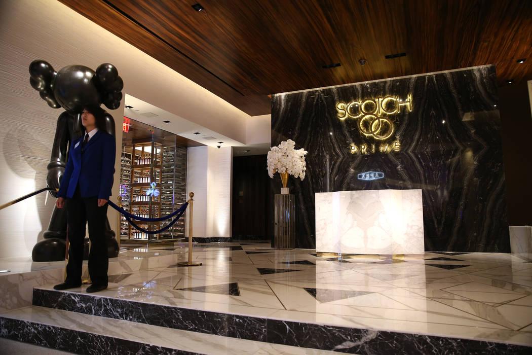 The Scotch 80 Prime steakhouse inside the renovated Palms hotel-casino in Las Vegas, Thursday, May 17, 2018. Erik Verduzco Las Vegas Review-Journal @Erik_Verduzco