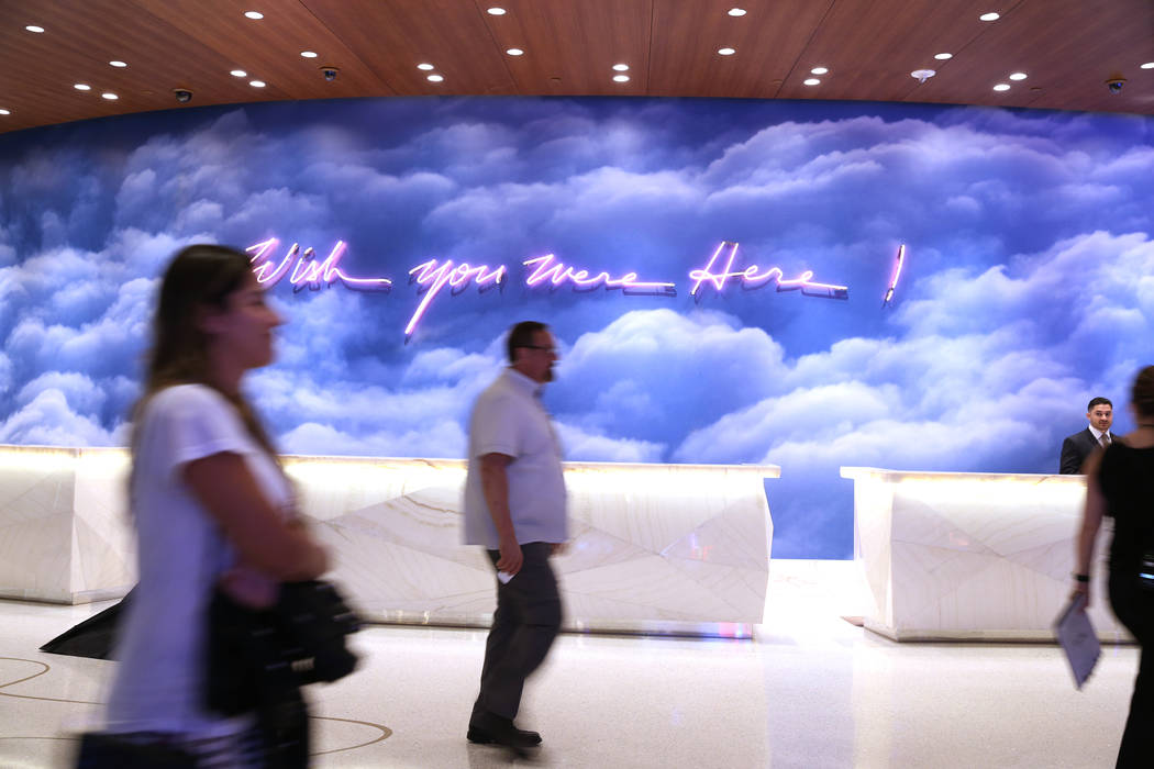 The lobby of the renovated Palms hotel-casino in Las Vegas, Thursday, May 17, 2018. Erik Verduzco Las Vegas Review-Journal @Erik_Verduzco