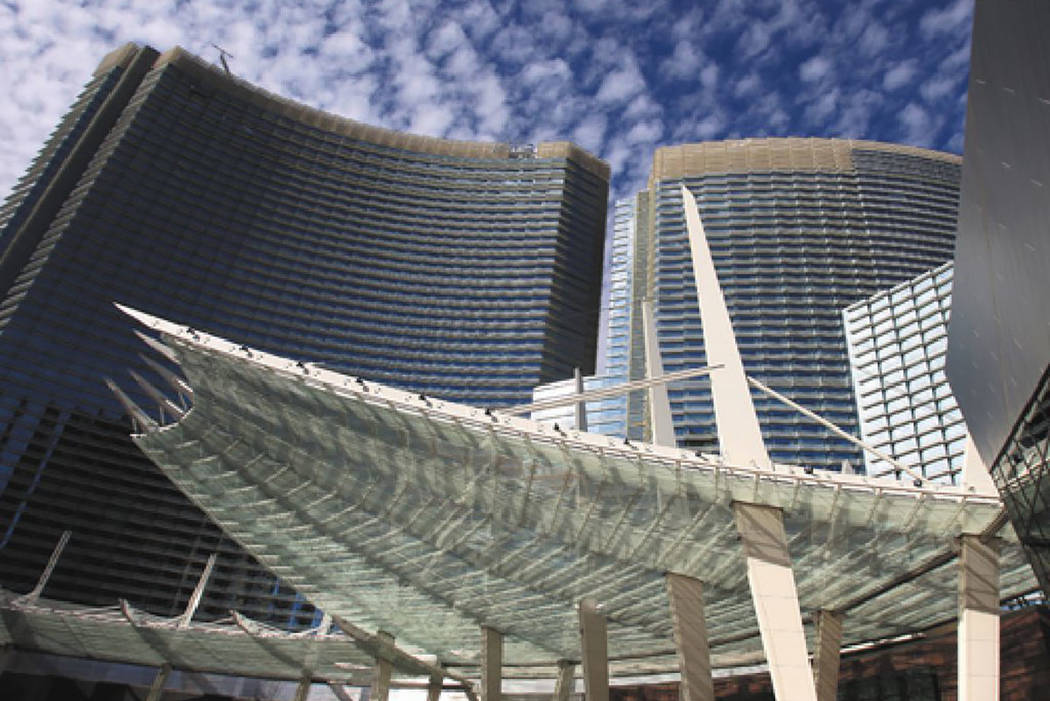 The Aria resort on the Las Vegas Strip (Las Vegas Review-Journal)
