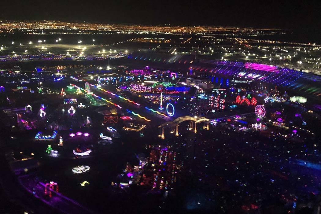 A look at Electric Daisy Carnival at Las Vegas Motor Speedway on Saturday, May 19, 2018. (John Katsilometes/Las Vegas Review-Journal). @JohnnyKats