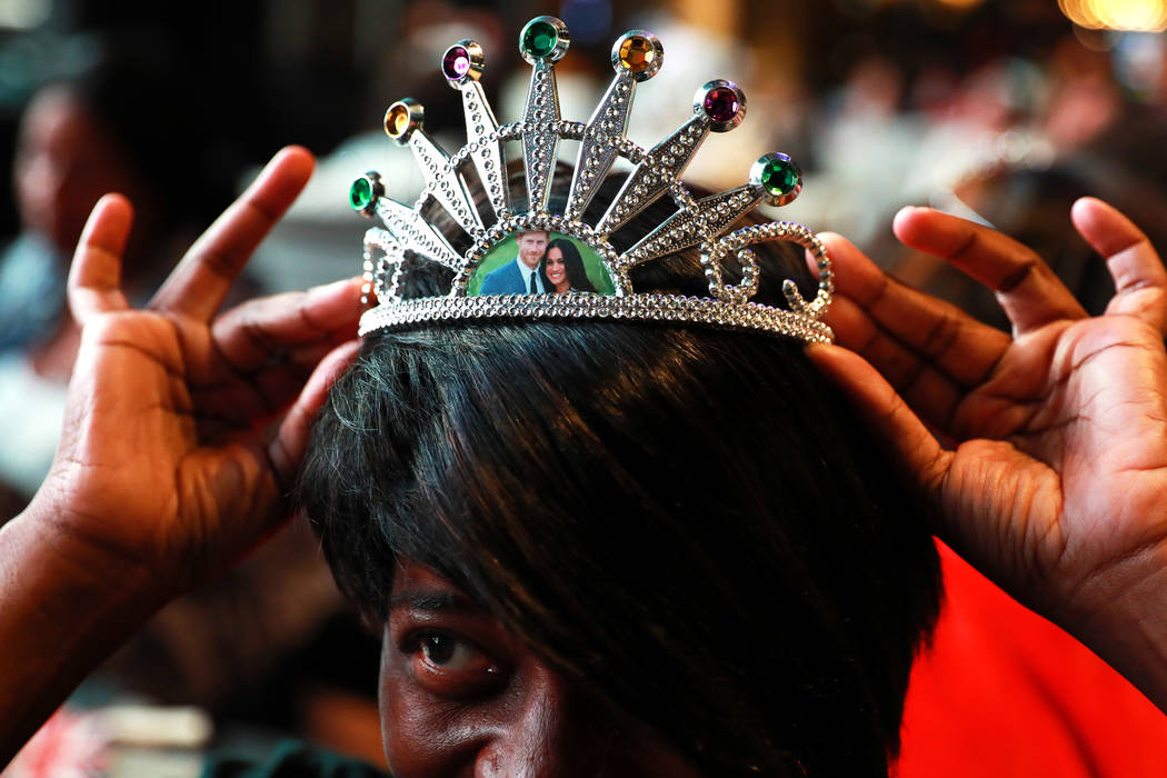 Tiya Coleman, of Las Vegas, shows off her homemade crown during a Royal Pajama and Tea Party at Topgolf Las Vegas on Saturday, May 19, 2018. Andrea Cornejo Las Vegas Review-Journal @DreaCornejo